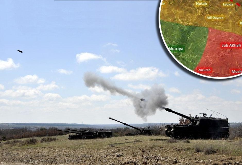 Topništo u Siriji