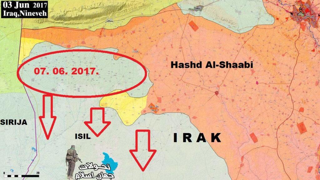 Iračko Sirijska granica - 07. 06. 2017.