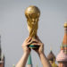 ApriArusija 2018 9, 2018 Moscow, Russia Trophy Of The Fifa World Cup And Of