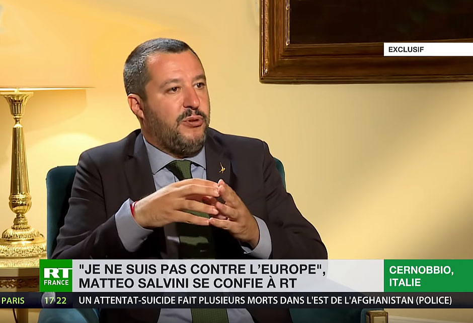 Matteo Salvini - Interview RT - Russia Today