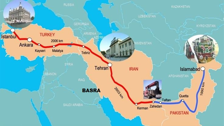 pruga Istanbul-Teheran-Islamabad