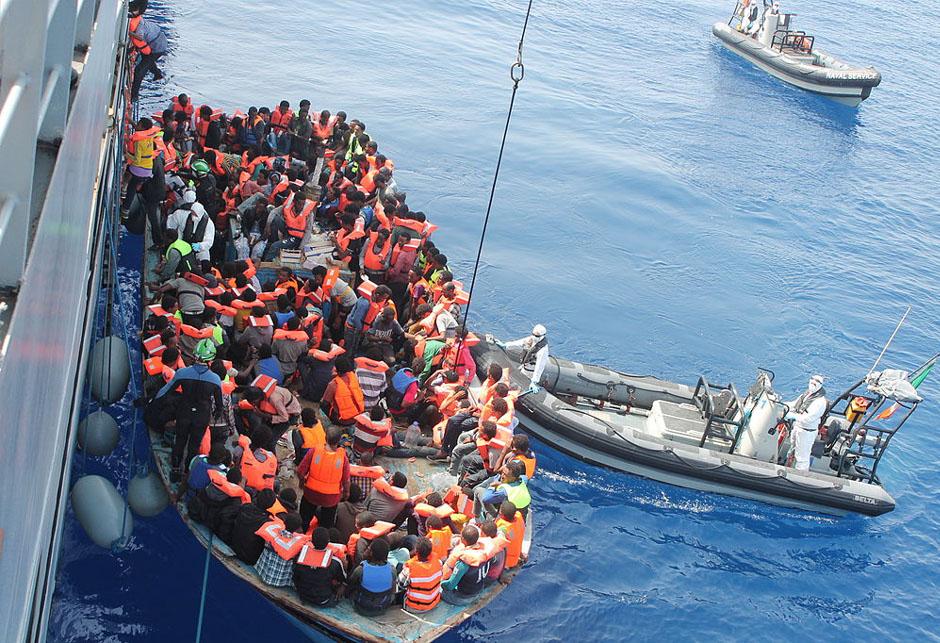 Migranti afrika crnac evropa mediteran sredozemno more