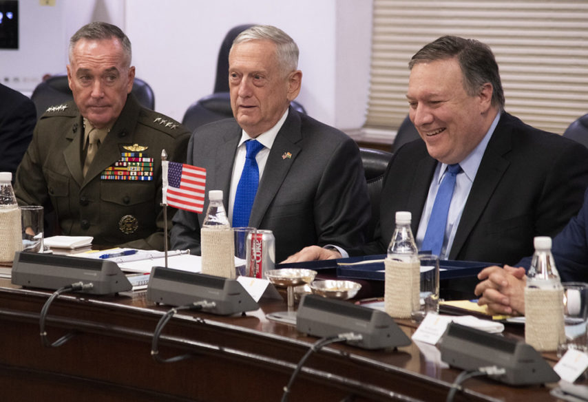 Joint Chiefs of Staff, Joseph F. Dunford, James N. Mattis Michael Pompeo sad združeni štab