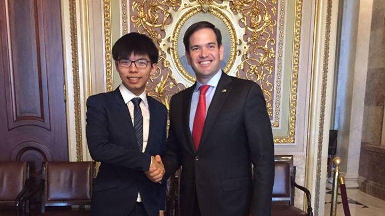 Joshua Wong i Marco Rubio