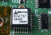 "Mykotronx MYK-78T (""Clipper"") Escrowed Encryption Chip čip"