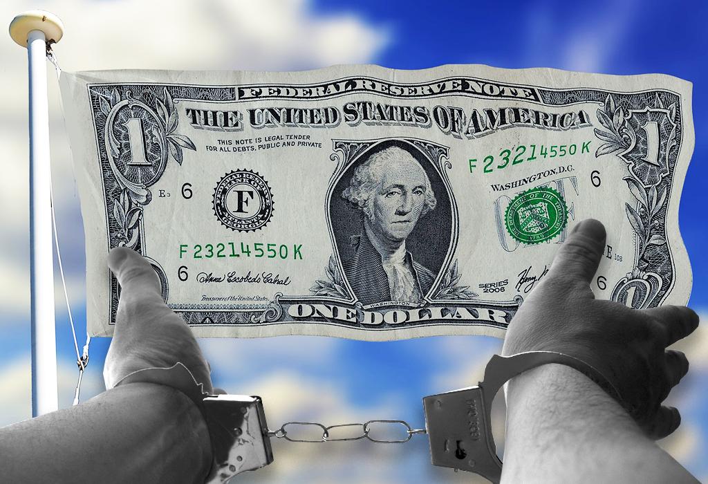 dollar- lisice- zarobljene ruke
