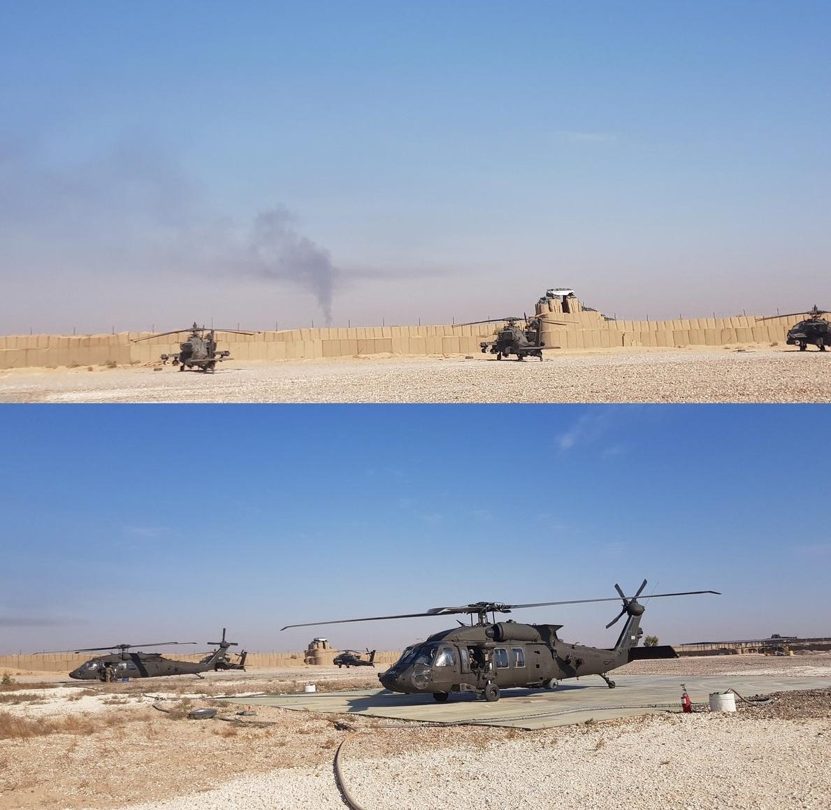 Američki helikopteri u naftnim poljima Omar