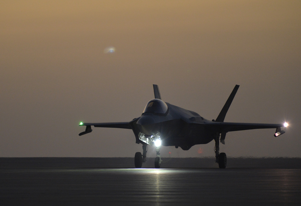 380th AMXS launches F-35s