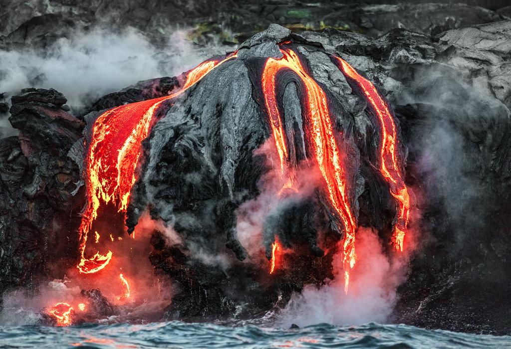 erupcija vulkana -magma