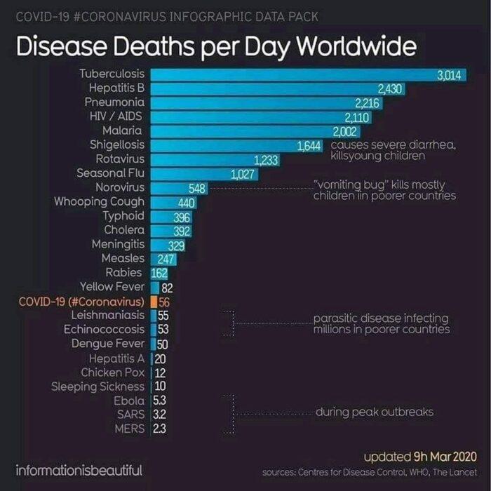 Stopa smrtnosti po bolestima u svijetu