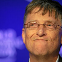 Bill Gates a osmijehom