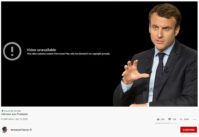 Macron - Youtube cenzura