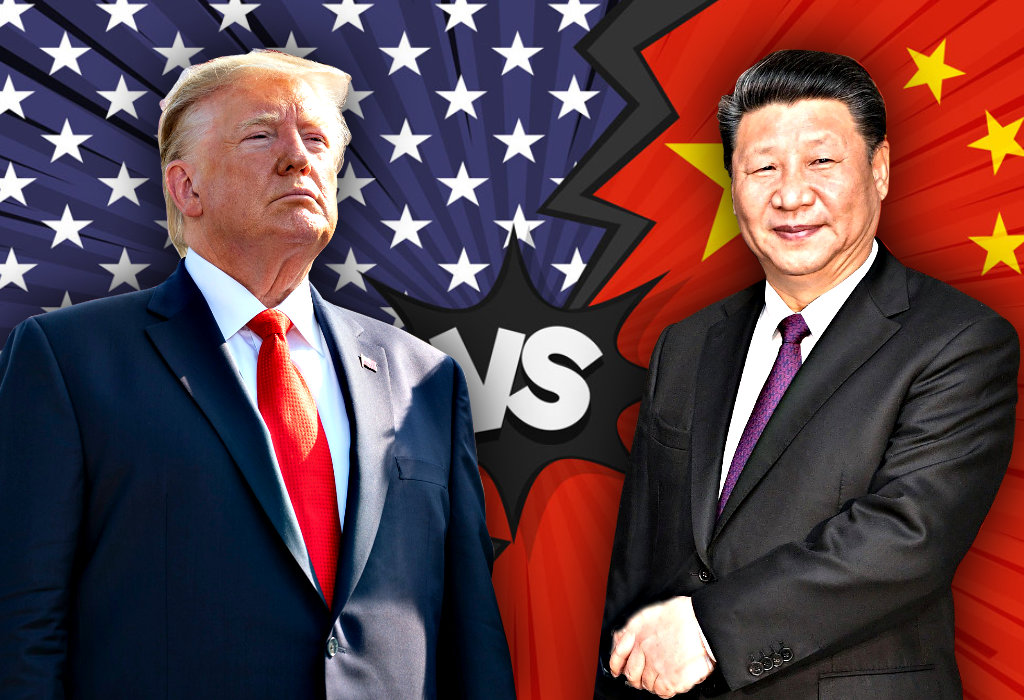 Xi Jinping Kina vs Trump SAD