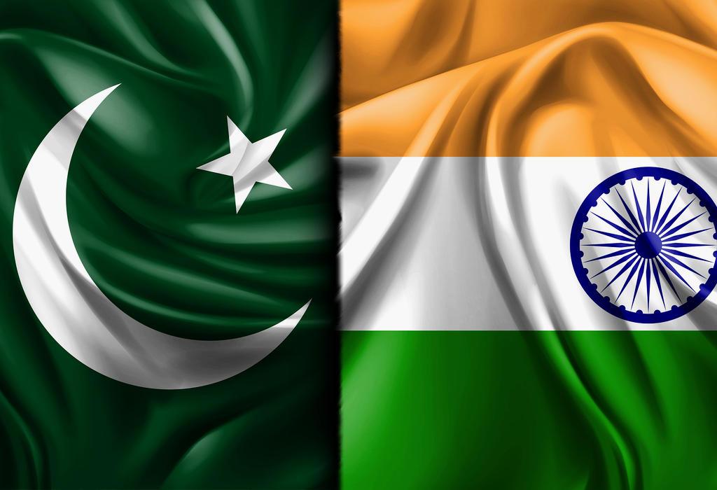 Pakistan i Indija zastave