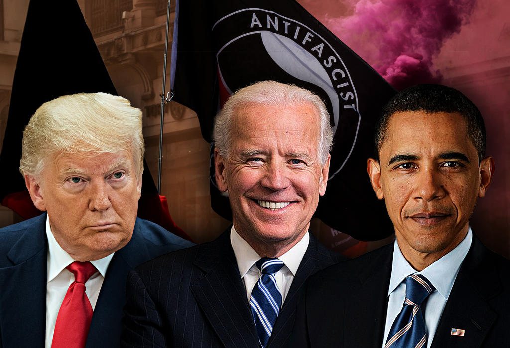 Antifa - Obama - Biden - Trump