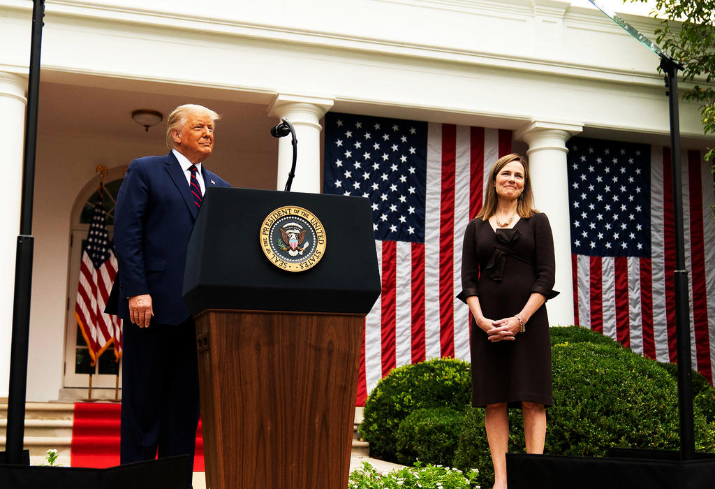 Amy Coney Barrett i Trump