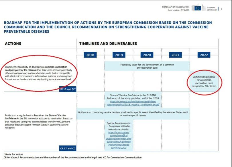 Šokantni dokumenti - Europska Komisija još 2018. objavila plan uvođenja vakcinacijskih putovnica 1
