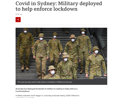 Totalna tiranija u Australiji – vojska na ulicama, policija ide po kućama, a građanima zabranjeno napuštanje zemlje 2