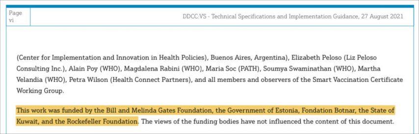 SZO objavljuje Plan za globalne putovnice za digitalna cjepiva, koje financiraju Bill Gates i Zaklada Rockefeller 1