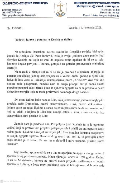 Stiže nastavak afere HEP zbog iseljenja Kosinjana iz Like - Gornji Kosinj tema jesenskog susreta svećenika Gospićko-senjske biskupije 1